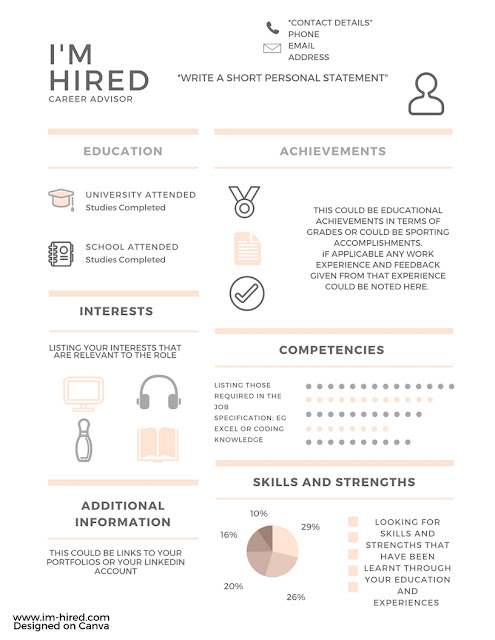 If you have got the experience, then you can still show off your skills in a unique way with this CV