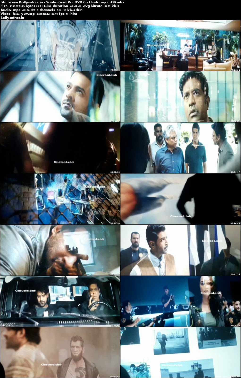 Saaho 2019 Full Hindi Movie Download Pre DVDRip 720p 1.1GB