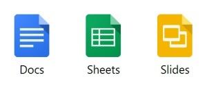 google docs sheets slides icc tlc instructional technology