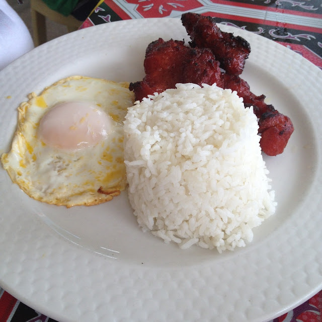 Pork tocino at Ging-ging's Restaurant in Malapascua Island Daanbantayan Cebu Philippines