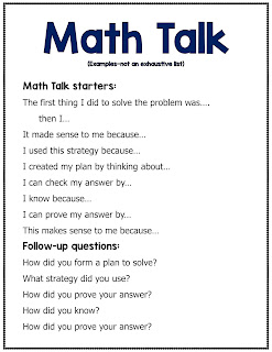 Math Talk Freebie