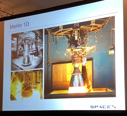SpaceX Merlin engine now used on Falcon series of reusable rockets (Source: Thomas Mueller presentation at ISDC 2018)