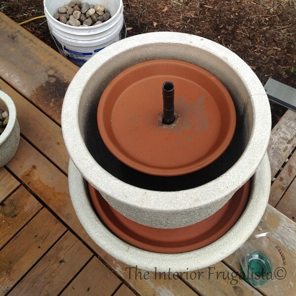 DIY Plant Pot Water Fountain Step 7