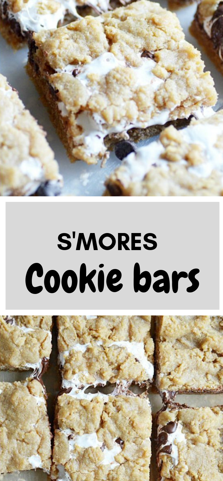 S'mores Cookie Bars #Dessert #cake
