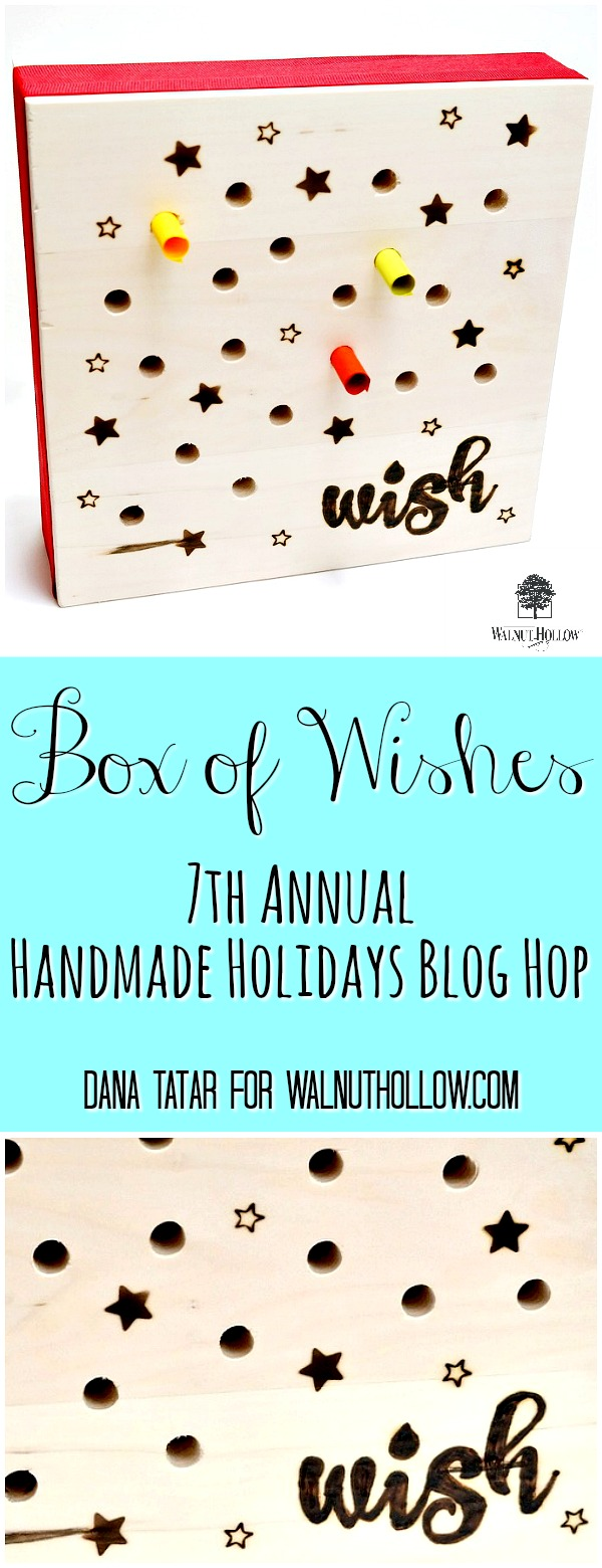 Box of Wishes Tutorial by Dana Tatar for Walnut Hollow
