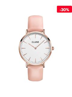 Ceas dama roz-auriu Cluse La Boheme CL18014