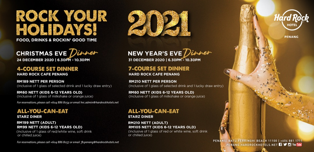 Hard Rock Hotel Penang New Year Eve and Christmas Takeaway