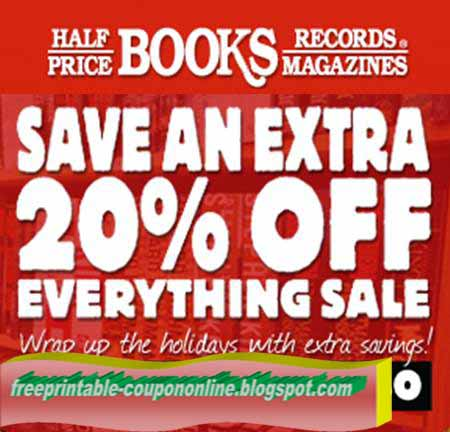 Coupon half price books