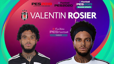 PES 2021 Faces Valentin Rosier by PES Football Turkey