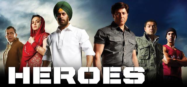 Heroes Salman Khan, Sohail Khan, Sunny Deol
