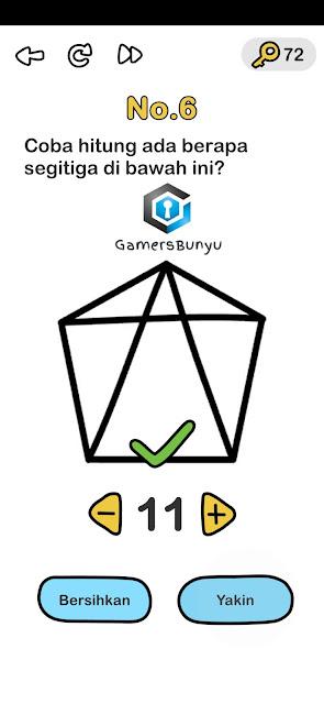 Coba hitung ada berapa segitiga dibawah ini
