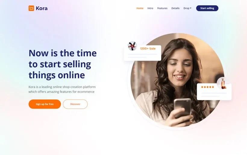 Kora - SaaS App Website Bootstrap HTML Template