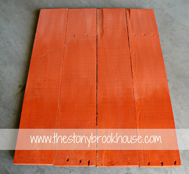 painting pallet sign orange