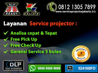 service proyektor murah