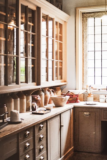 Brown Wooden Kitchen Cupboards