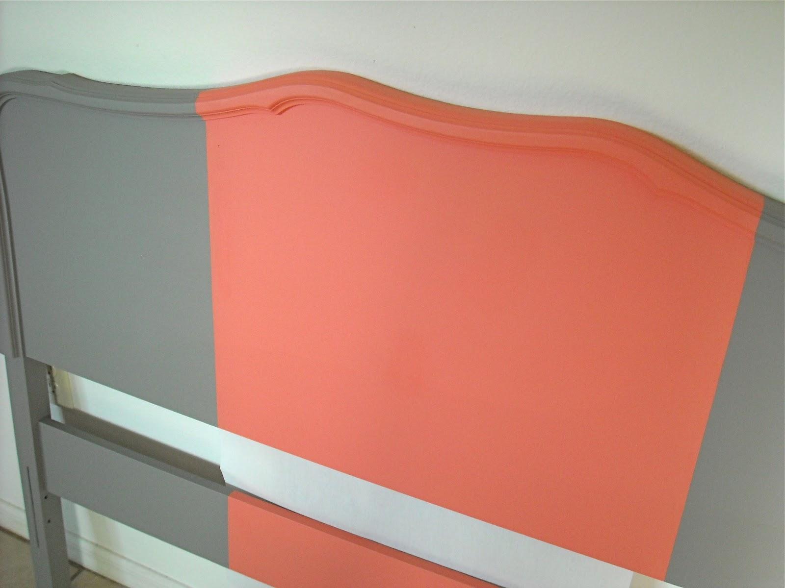 The Maison Studios Coral Striped Headboard