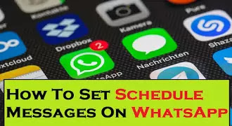 How To Set Schedule Messages On WhatsApp | SKEDit Scheduling App!