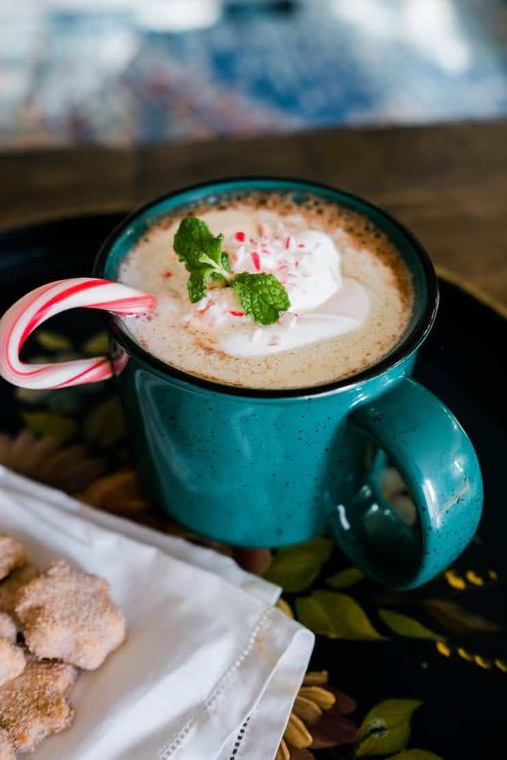 Peppermint Mexican Hot Chocolate | Photo Courtesy of Muy Bueno Cookbook