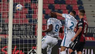ملخص وهدف مباراة انتر ميلان علي بولونيا (1-0) الدوري الايطالي