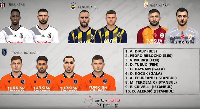 PES 2017 Turkey Süper Lig Facepack by FR Facemaker