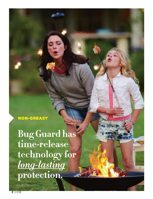 Bug guard has time release
