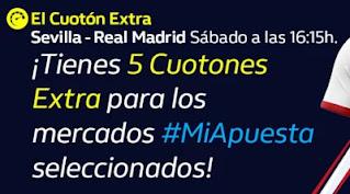 william hill El Cuotón Extra Sevilla vs Real Madrid 5-12-2020
