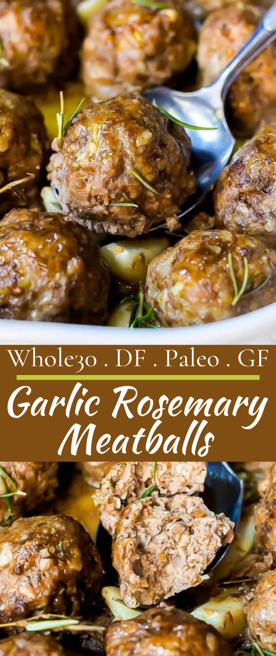Garlic Rosemary Whole 30 Meatballs #healthy #keto