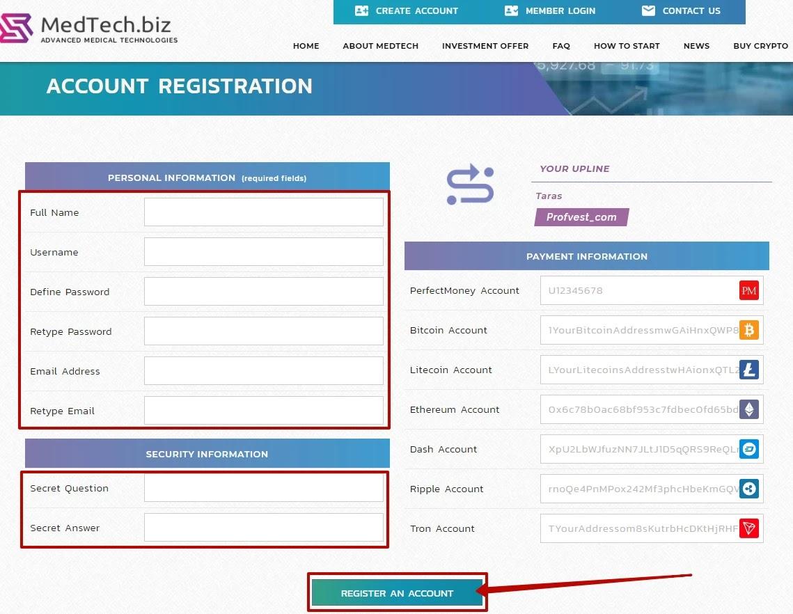 Регистрация в MedTech2