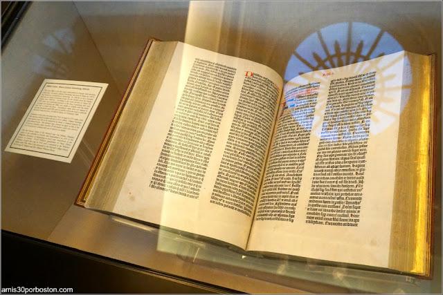Biblia de Gutenberg de la Biblioteca Widener, Universidad de Harvard