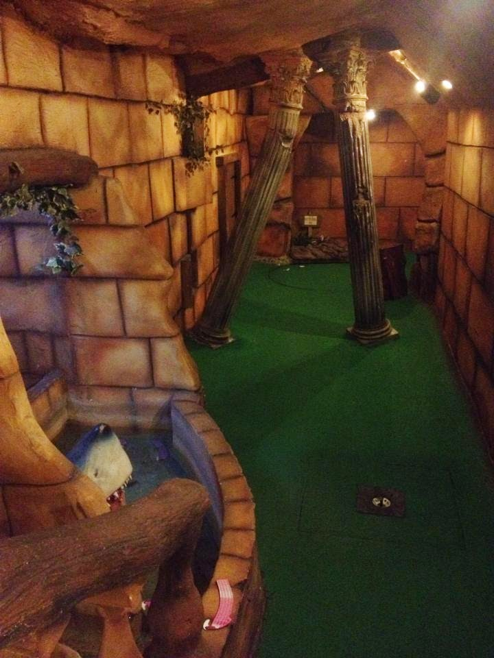 Hole 1 of the Magical Golf indoor Adventure Golf course at Mannings Amusements in Felixstowe, Suffolk (photo by Paul O'Conner, 2014)