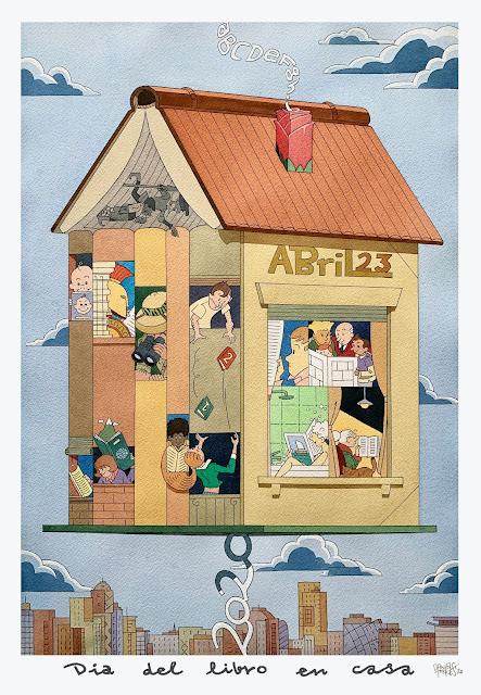 ilustración de Daniel Torres para conmemorar este día del Libro.
