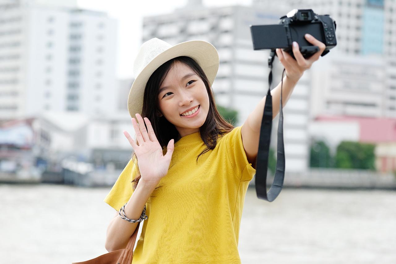 Cewek Amoi cantik manis Selfie alasan dibalik Swafoto