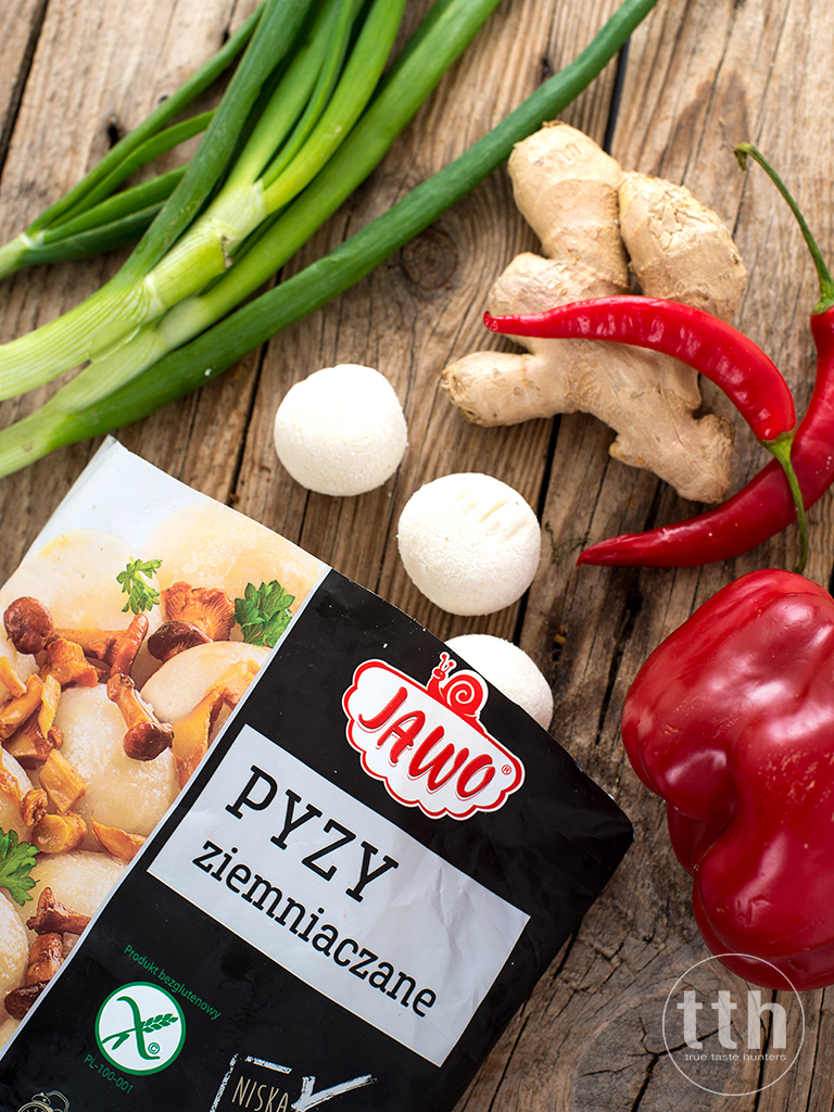 Pyzy ziemniaczane w sosie słodko-kwasnym - przepis weganski, bezglutenowy