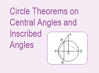 Circle Theorems on Central Angles and Inscribed Angles