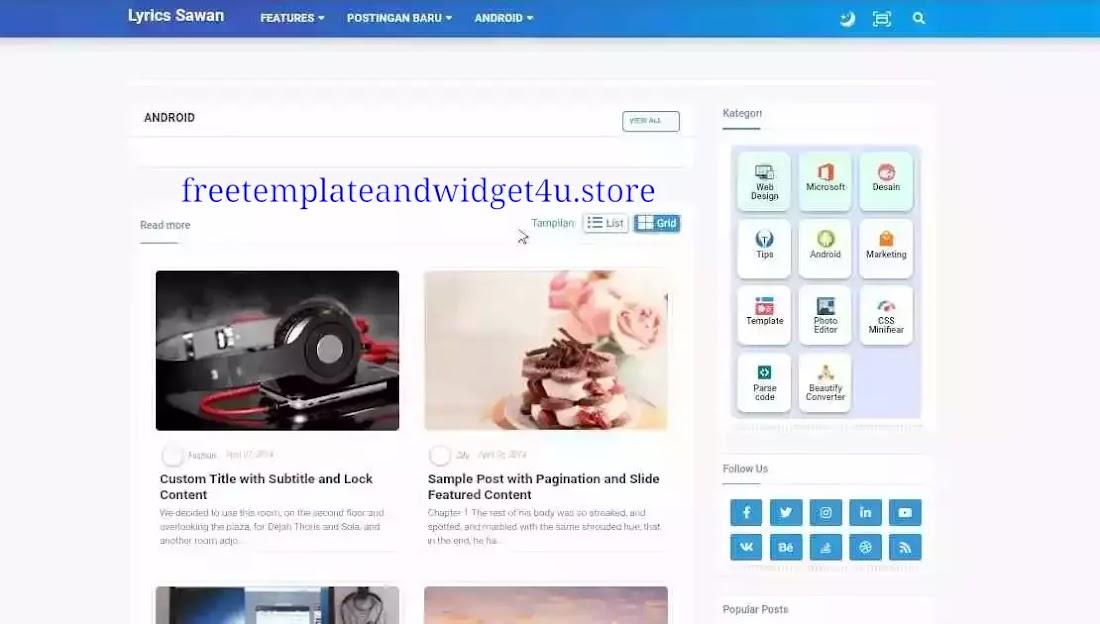 Hartomy V3 (SnapNewsV3)- Premium Blogger Template Free Download.