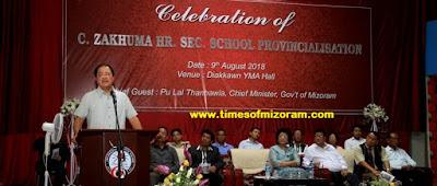 GOVT. C. ZAKHUMA HSS PROVINCIALISATION LAWMNA