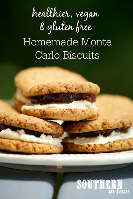Gluten Free Homemade Monte Carlo Biscuits Recipe - Arnotts Copycat Biscuits, low fat, gluten free, healthy, vegan