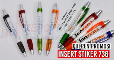 pen plastik insert paper 736, pen full colour, pen insert paper, pen promosi 736, souvenir pen insert stiker, pen stiker promosi, Souvenir Promosi Pen Plastik 736 dengan harga murah