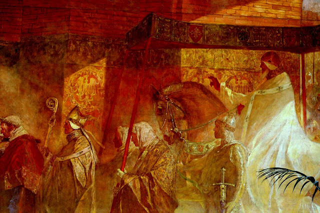 O beato Papa Urbano II entrando em Toulouse.