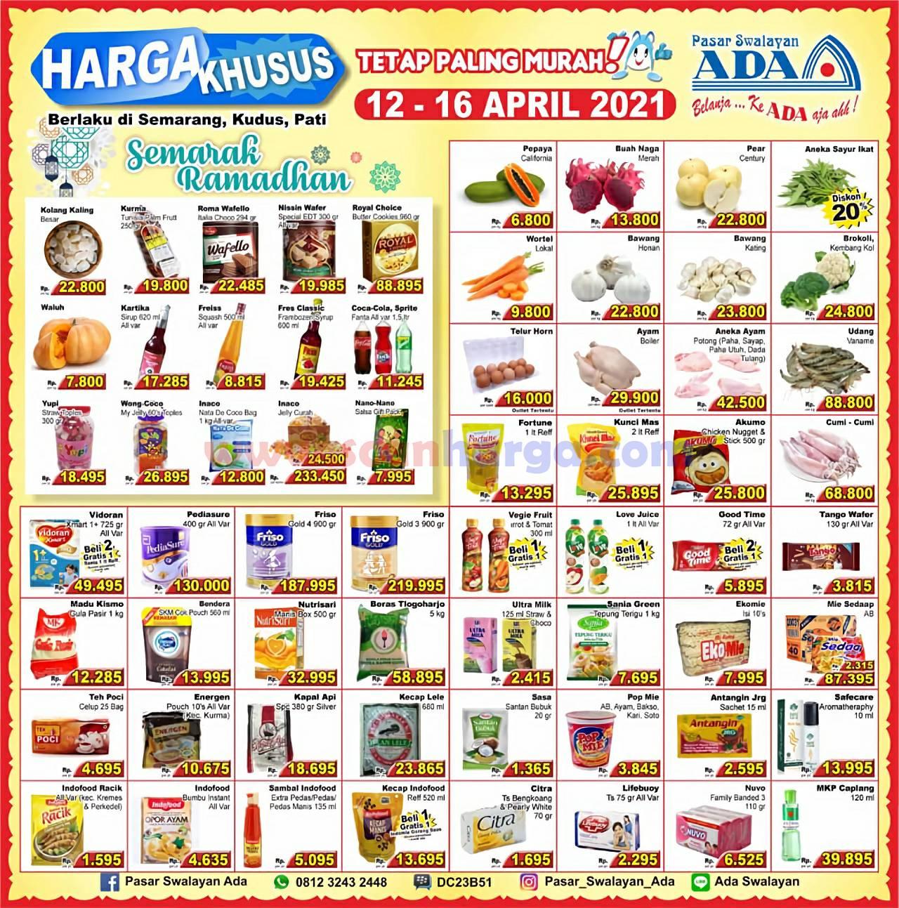 Promo Katalog Ada Swalayan Weekday Harga Khusus 12 - 16 April 2021