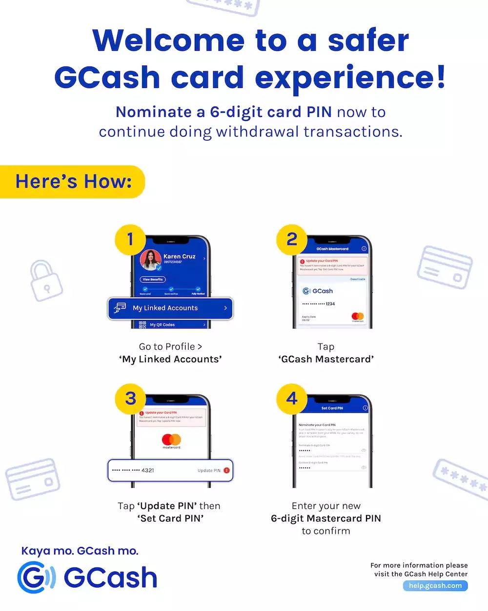 6-digit Card PIN upgrade to GCash Card