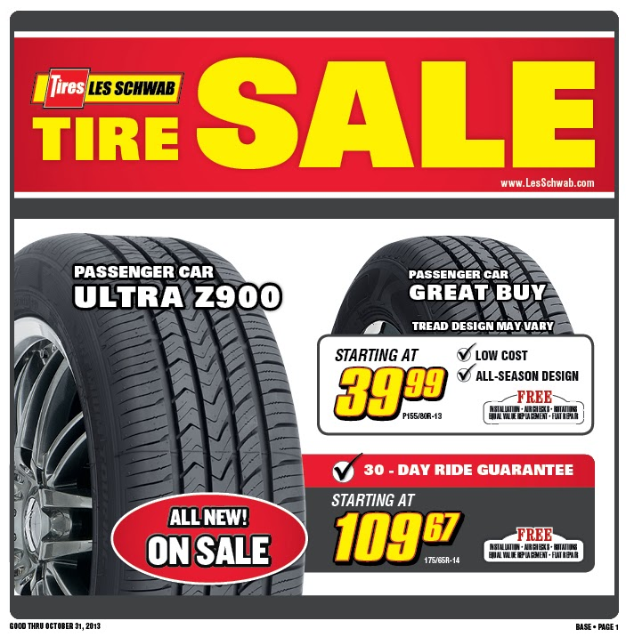 graphic regarding Les Schwab Brake Coupons Printable known as Les Schwab Tire Discount coupons and Rebates September 2019