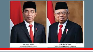 Jangan Keliru, Berikut Foto Resmi Presiden dan Wapres RI 2019-2024