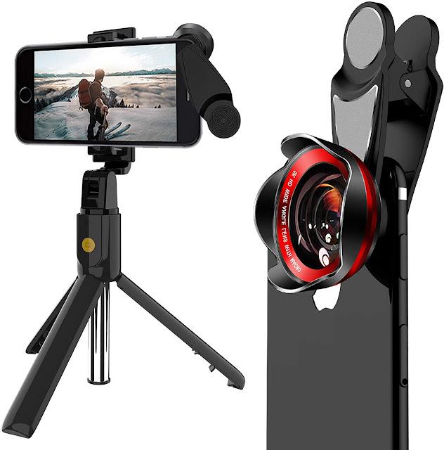 Kit Macro Lens Extendable Selfie Stick Tripod