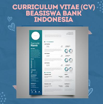 Contoh Curriculum Vitae (CV) Beasiswa Bank Indonesia 2021 Terbaru