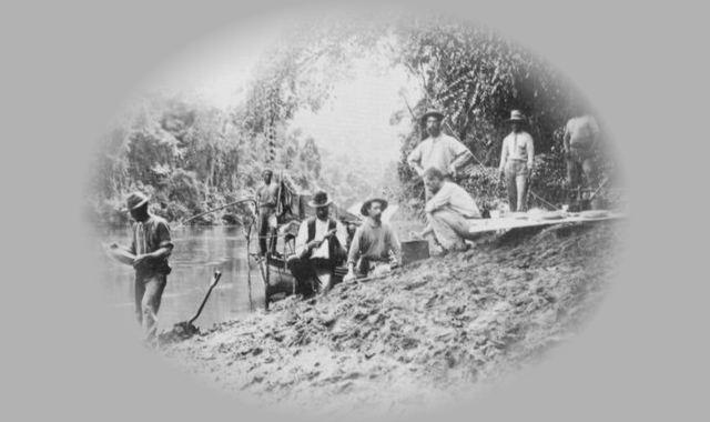 Männer im Urwald