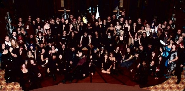 Goth cruise group photo