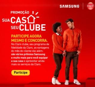Cadastrar Promoção Claro Clube 2020 Sua Casa Seu Clube - Concorra Muitos Prêmios