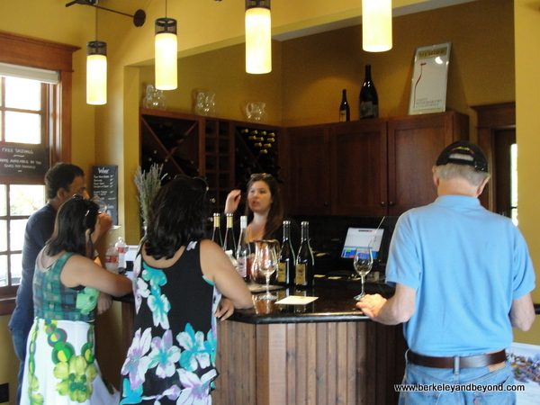 tasting room at Balo Vineyards in Philo, California
