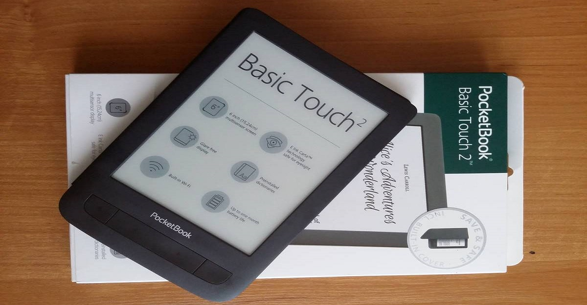 PocketBook Basic Touch 2 Save & Safe wraz z pudełkiem.